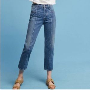 Levi's Womens Altered Straight High rise crop jean